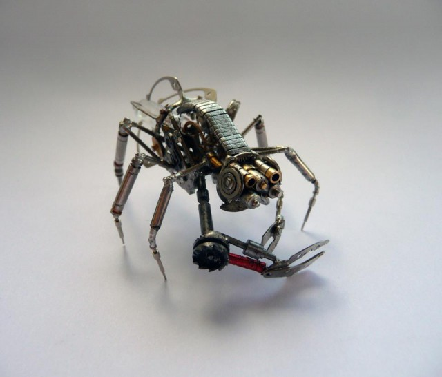 1353136263 1 640x546 Steampunk Insects by Justin Gershenson Gates