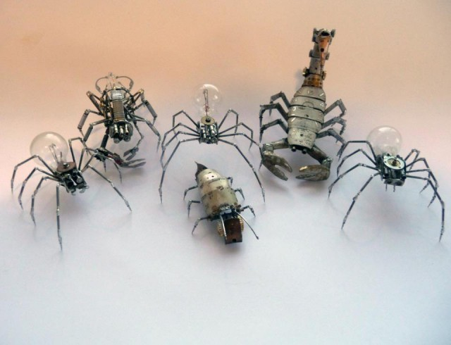 1353136322 0 640x490 Steampunk Insects by Justin Gershenson Gates