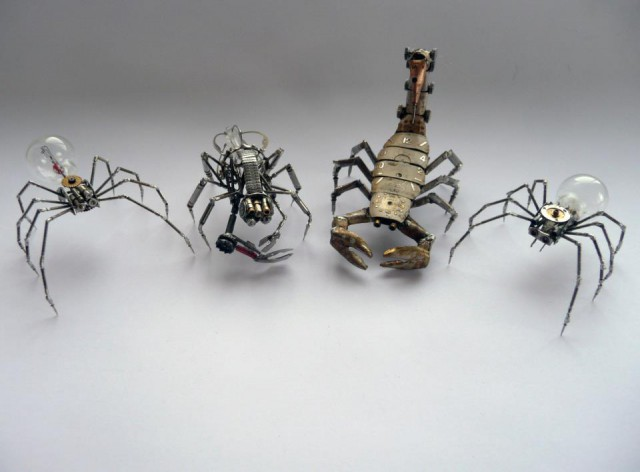 1353136336 0a 640x472 Steampunk Insects by Justin Gershenson Gates