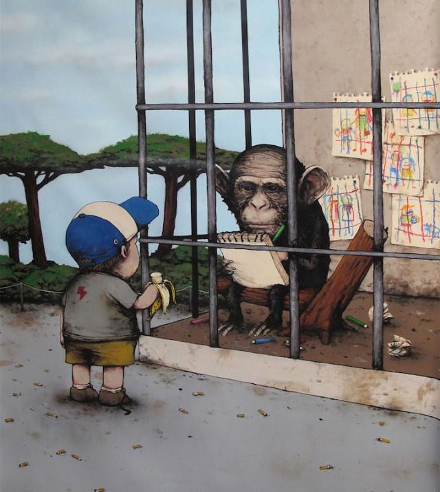 Black Humor in Drans Street Art
