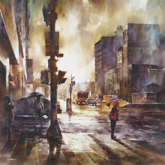 1358156318 2 640x640 Watercolor Paintings by Lin Ching Che