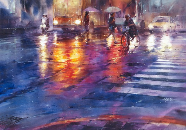 1358156340 1 640x448 Watercolor Paintings by Lin Ching Che