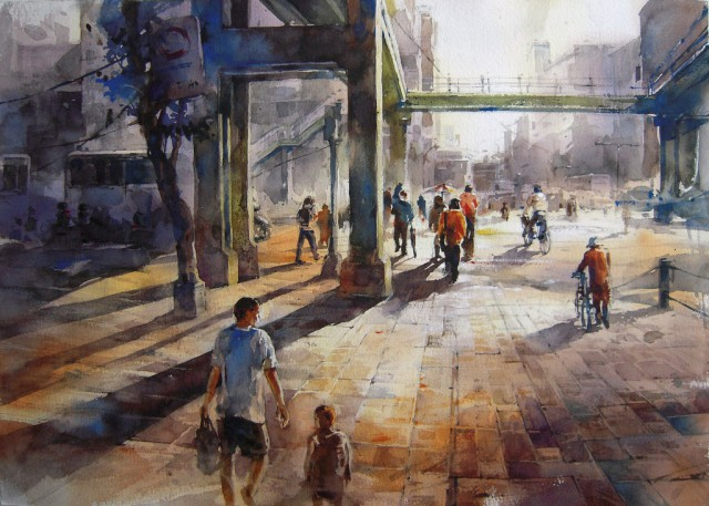 1358156346 13 640x457 Watercolor Paintings by Lin Ching Che