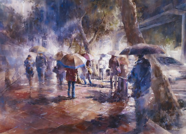 1358156352 7 640x462 Watercolor Paintings by Lin Ching Che