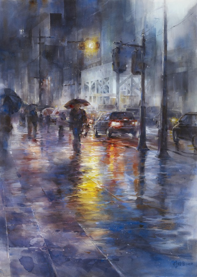 1358156357 6 640x903 Watercolor Paintings by Lin Ching Che