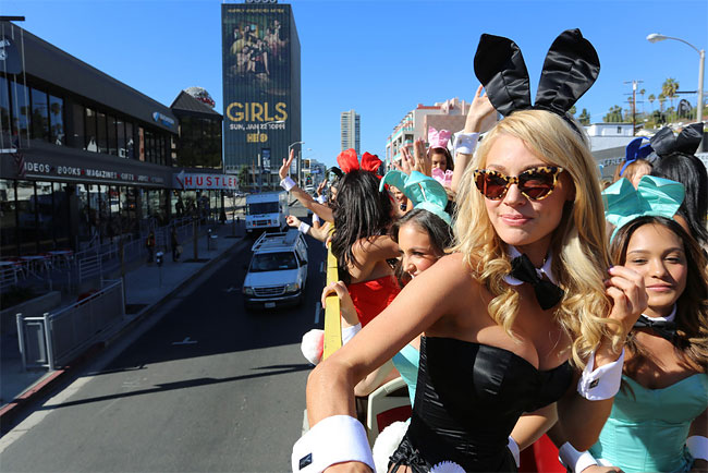 865 Bunnies on Parade to Celebrate 60 Years of Playboy