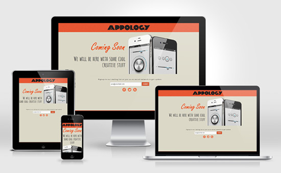 Appology Free Responsive Coming Soon Page Template 20 Free Under Construction Website Templates   Free Download