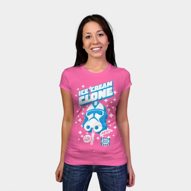 Ice Cream Clone woman tee 650x650 Flowers In The Attic by Jason Byron Nelson & Ice Cream Clone by gimetzco T shirt Designs