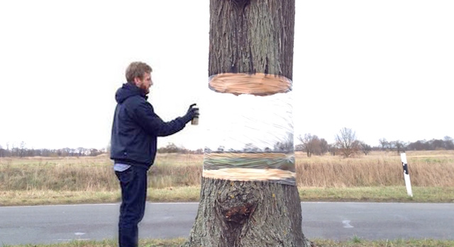Illusion Painting On Tree By Daniel Siering and Mario Schuster 1 Illusion Painting On Tree By Daniel Siering and Mario Schuster