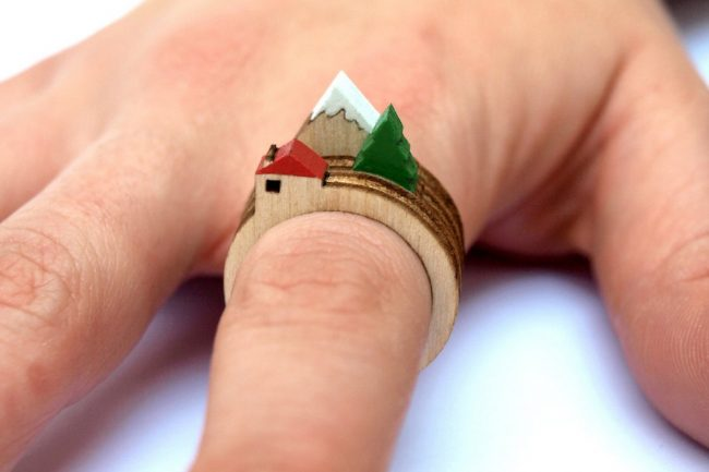 Laser Cut Wooden Landscape Ring 31 650x433  Laser Cut Wooden Landscape Ring