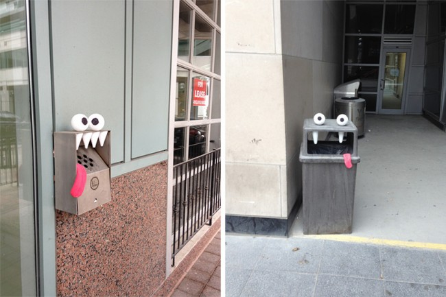 Outdoor Objects Transformed into Googly Eyed Faces 1 650x433 Outdoor Objects Transformed into Googly Eyed Faces