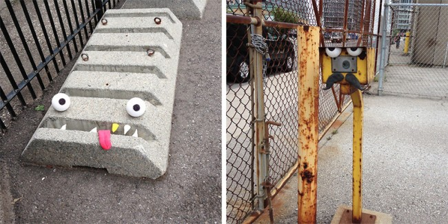 Outdoor Objects Transformed into Googly Eyed Faces 3 650x325 Outdoor Objects Transformed into Googly Eyed Faces