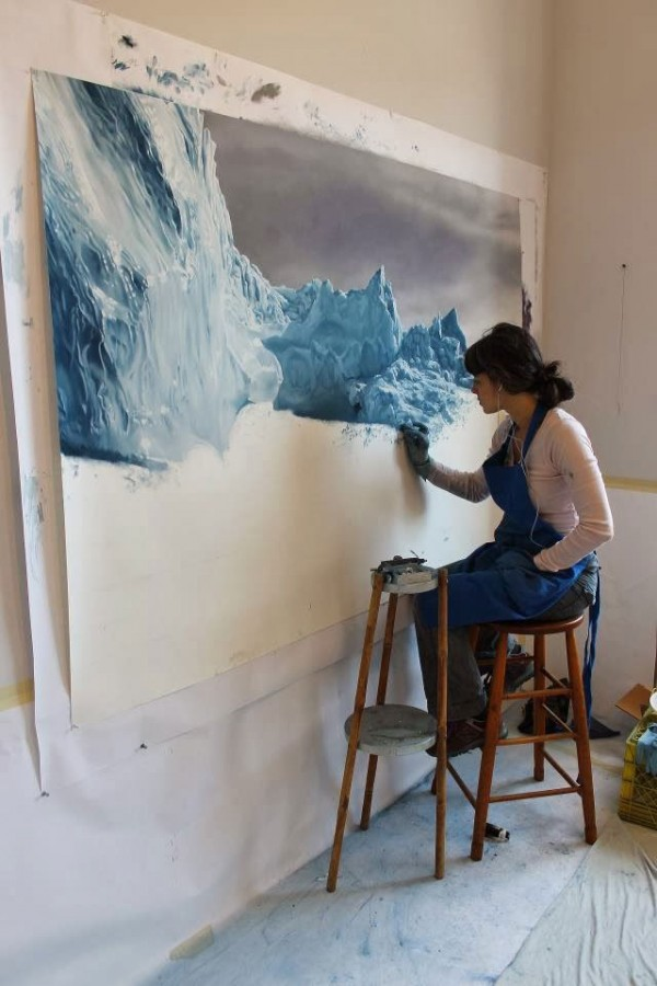 Realistic Paintings Of Greenland Made By Zaria Forman Realistic Paintings Of Greenland Made By Zaria Forman