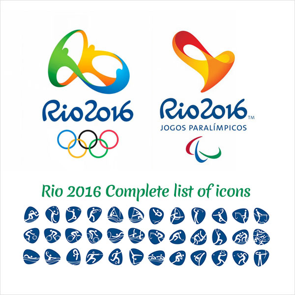 Rio 2016 Olympic Icons 13 Rio 2016 Olympic & Paralympic Icons Revealed