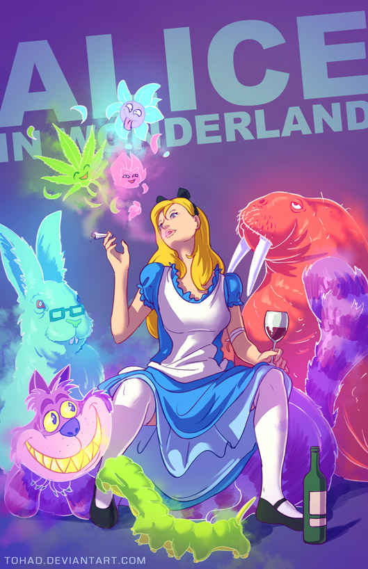alice by tohad d6y5ye5 Childhood Characters as Bad Ass Lunatics
