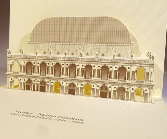 basilica palladiana1 3D Popup kirigami postcards with Arch. Andrea Palladios monuments