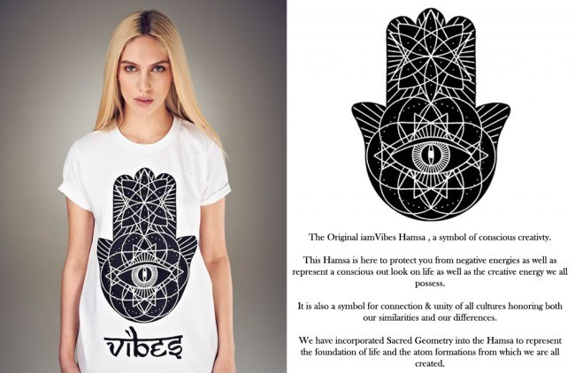 iamvibes hamsa tshirt w writing 650x422 iamVibes is Cosmic Clothing for a Conscious Universe