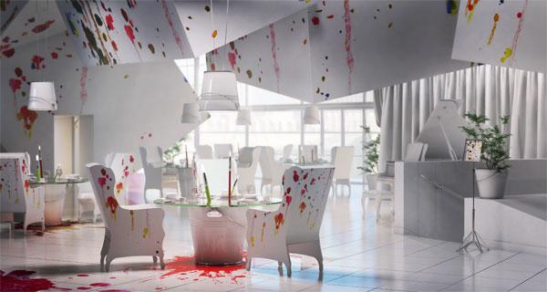 restaurant karina wiciak wamhouse 1 Pracownia Restaurant Interior by Karina Wiciak