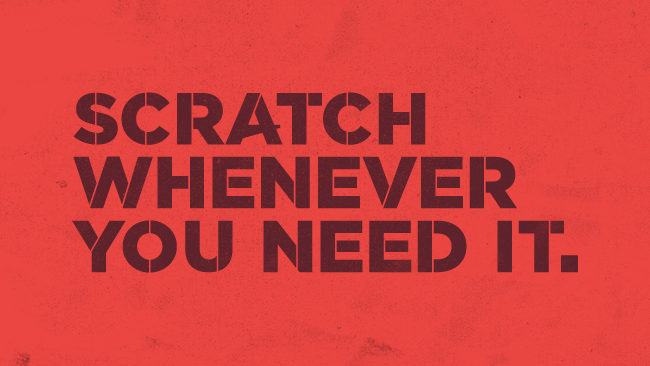 06 SCRATCH Typeface
