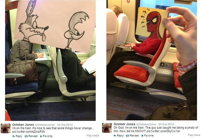 1021 Artist Turns Train Passengers Into Funny Characters With His Doodles