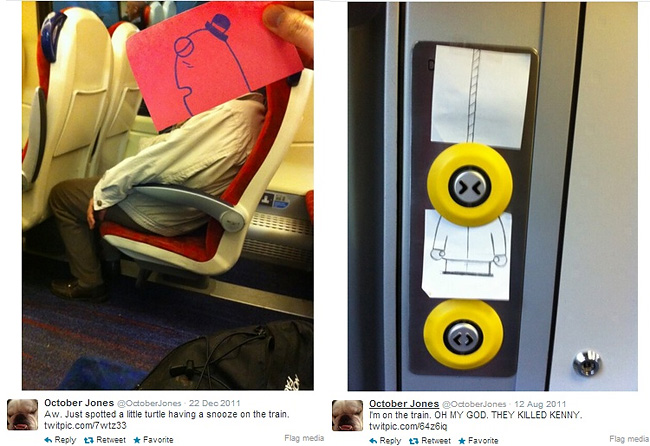 1106 Artist Turns Train Passengers Into Funny Characters With His Doodles