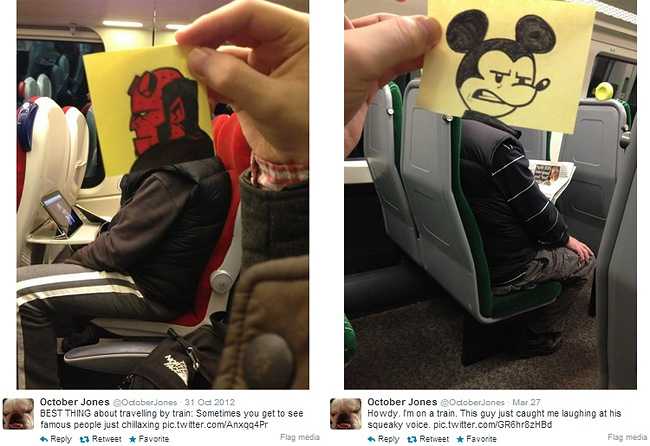 1125 Artist Turns Train Passengers Into Funny Characters With His Doodles
