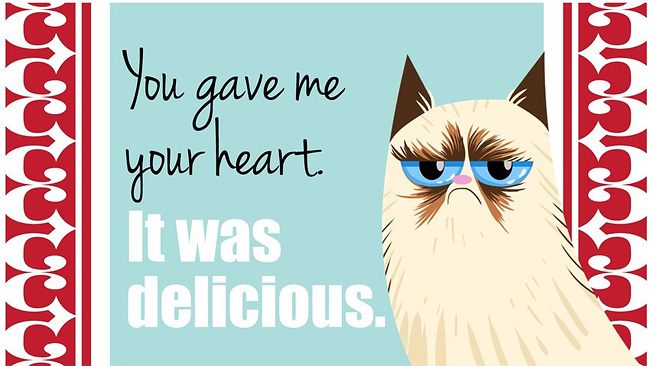 1133 18 Grumpy Cat Valentines for Your Crabby Companion