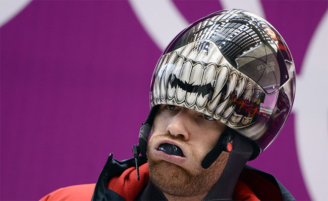1223 Awesome Skeleton Helmets on Sochi Olympics 2014