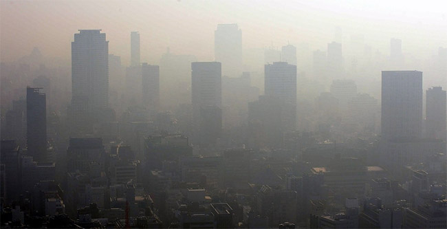 1268 Chinese Pollution Affecting Japan and South Korea