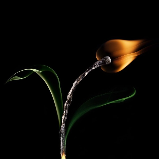 1360742230 1 640x640 Burning Matches Art by Stanislav Aristov