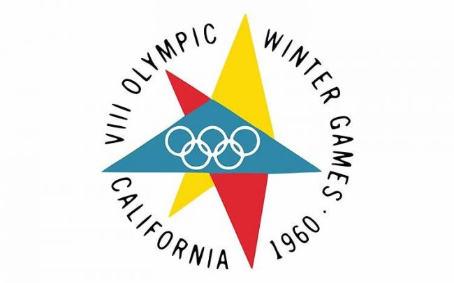 1960 california winter olympics logo 650x406 A Complete 100 Years of History of Olympic Logo Designs