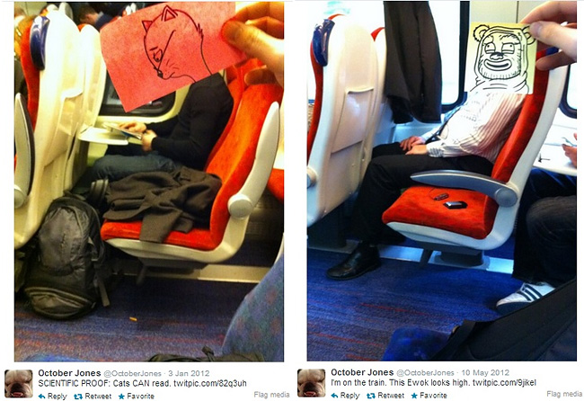 258 Artist Turns Train Passengers Into Funny Characters With His Doodles