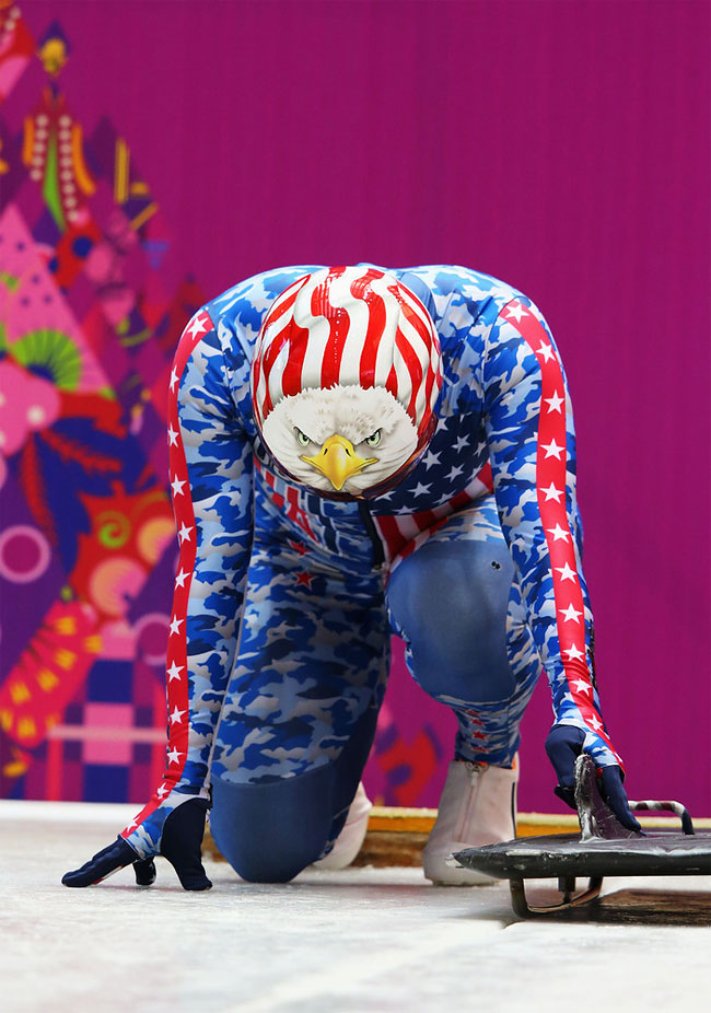 278 Awesome Skeleton Helmets on Sochi Olympics 2014