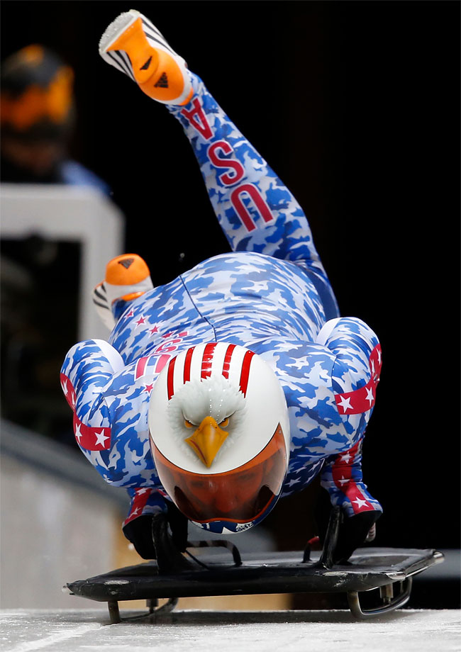 368 Awesome Skeleton Helmets on Sochi Olympics 2014
