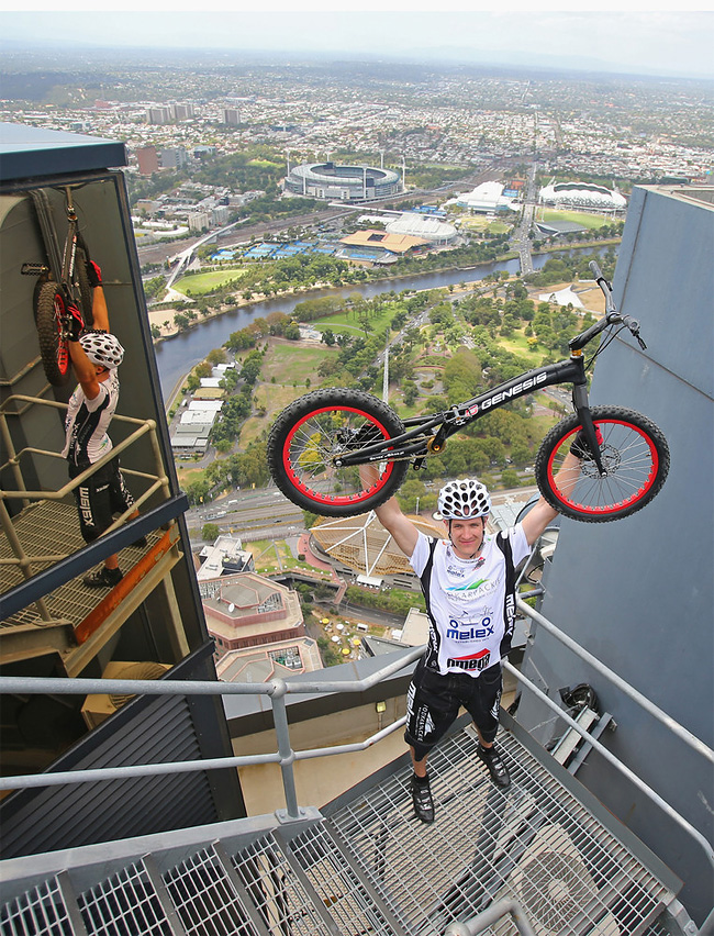 421 Man Jumps Up 2,919 Steps On His Bike