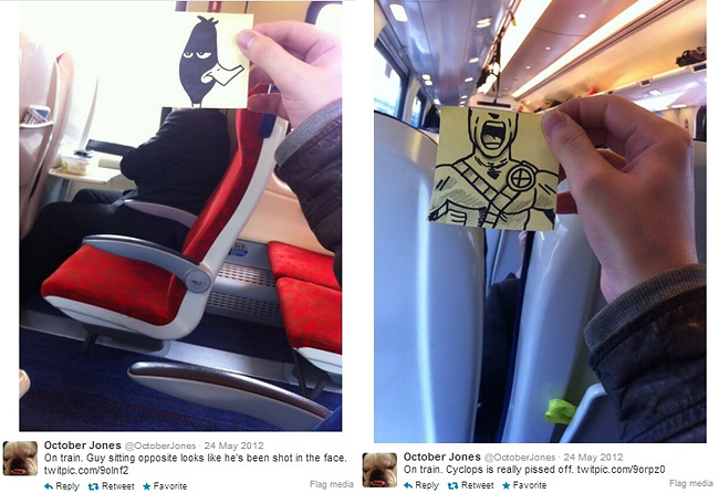 443 Artist Turns Train Passengers Into Funny Characters With His Doodles