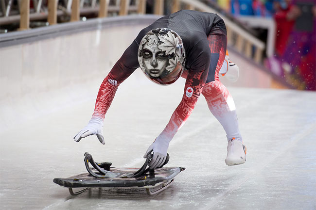 456 Awesome Skeleton Helmets on Sochi Olympics 2014