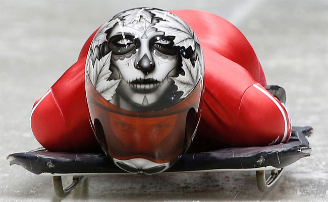 548 Awesome Skeleton Helmets on Sochi Olympics 2014
