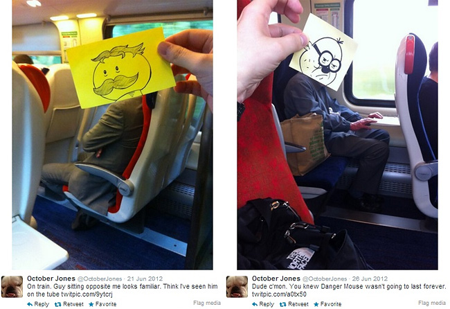 629 Artist Turns Train Passengers Into Funny Characters With His Doodles