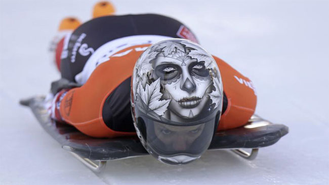 638 Awesome Skeleton Helmets on Sochi Olympics 2014