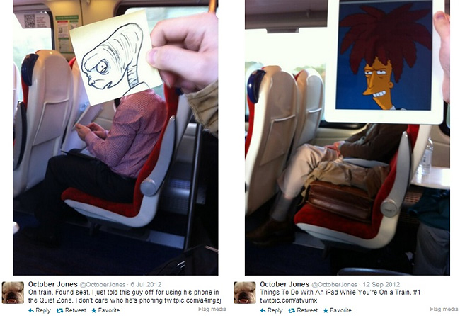 725 Artist Turns Train Passengers Into Funny Characters With His Doodles