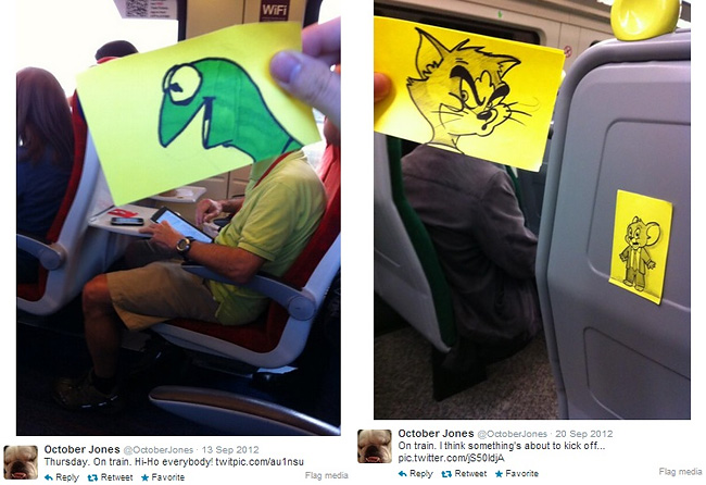 823 Artist Turns Train Passengers Into Funny Characters With His Doodles