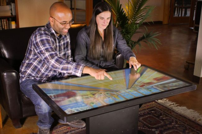 "Ideums 46 Multitouch Coffee Table 11 650x433  Ideum's 46"" Multitouch Coffee Table"