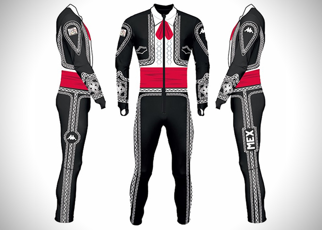 Suit 1 Mexican Mariachi Ski Suit for Winter Olympics