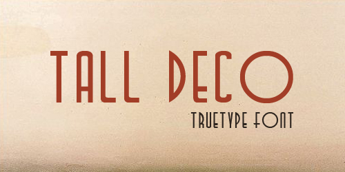 Tall Deco1 75 Free Retro Fonts