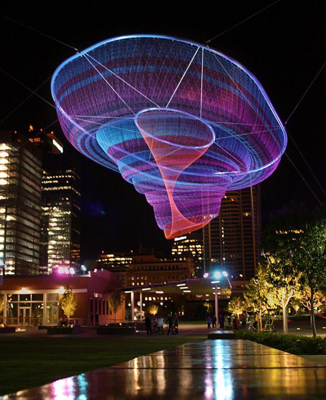 Trippy Nets by Janet Echelman 2 650x797 Trippy Nets by Janet Echelman