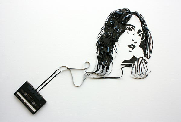 Using Old Cassettes And Tapes To Create Celebrity Portraits Using Old Cassettes And Tapes To Create Celebrity Portraits