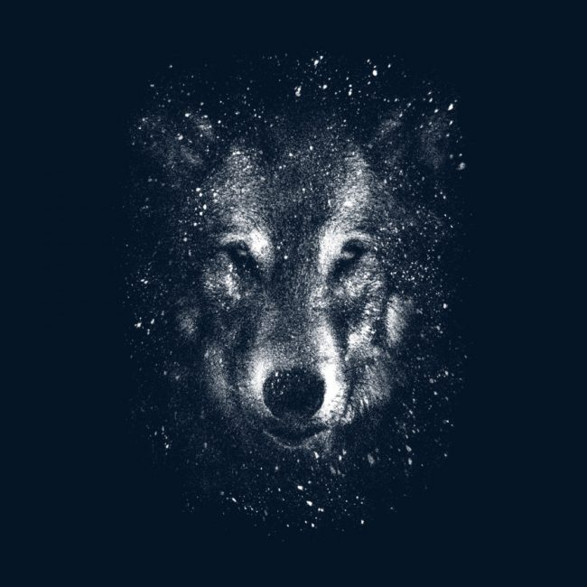 Winter Wolf Designed by leech  design 650x650 Winter Wolf by leech  & Dangerous Game by Matheus Lopes Castro T shirt Designs