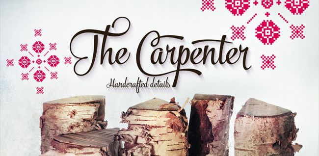 carpenter 01 The Carpenter font by FenoType
