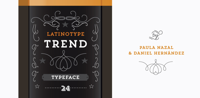 hft trend 08 Trend type family by LatinoType
